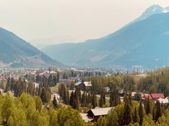 Smoke in the sky above Silverton on Monday, June 15. Ray Dileo/Silverton Standard